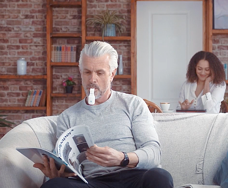 eXciteOSA for Snoring and Sleep Apnoea can be used during the day while you read a magazine