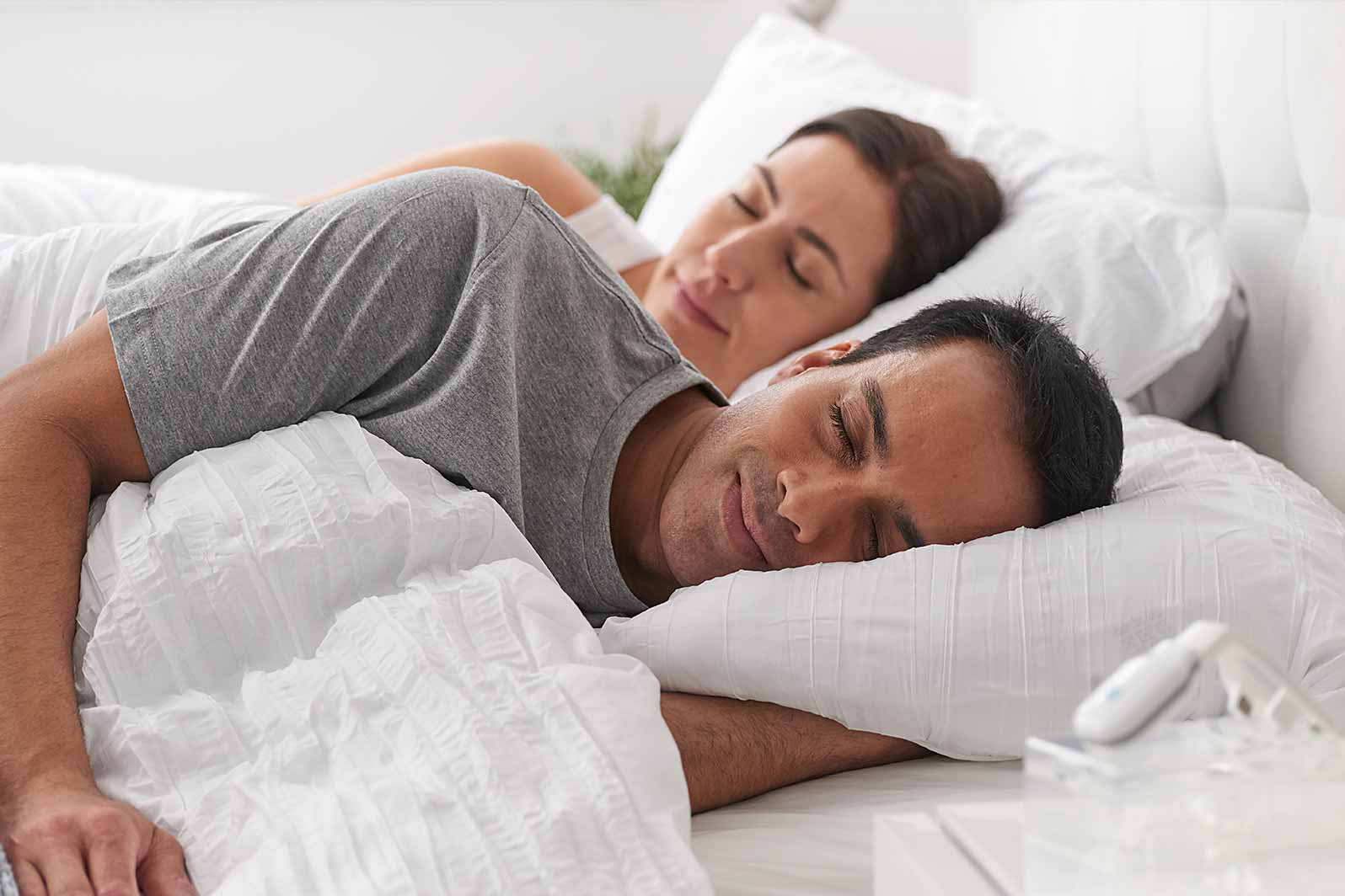 eXciteOSA for Sleep apnoea allows you to sleep without wearing a mask or MAD